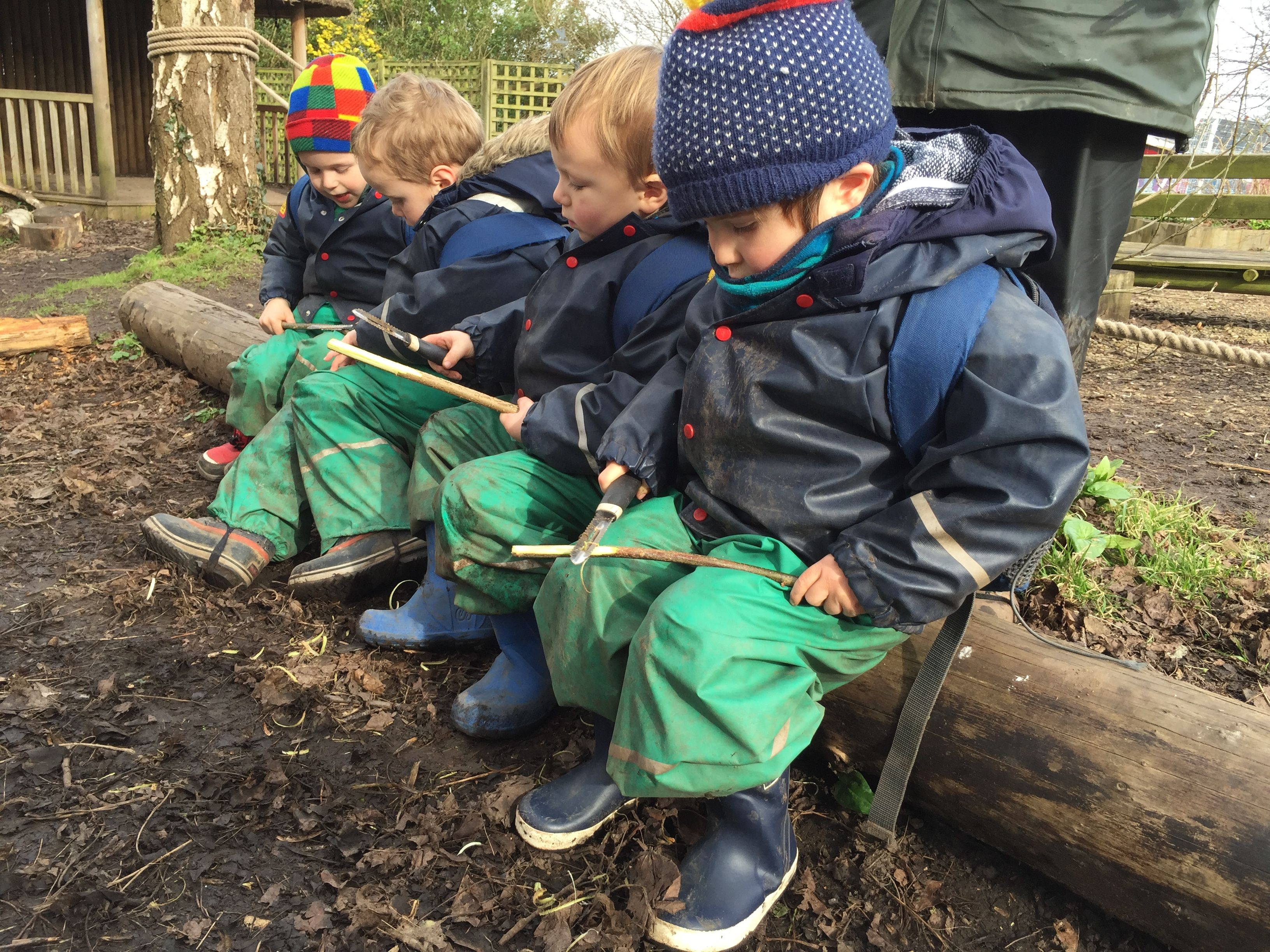 Sharpening sticks