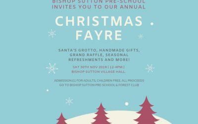 30 November: Join us at our Christmas Fayre