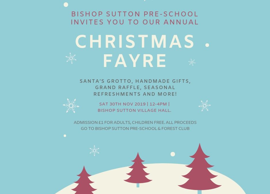 30 November: Join us at our Christmas Fayre